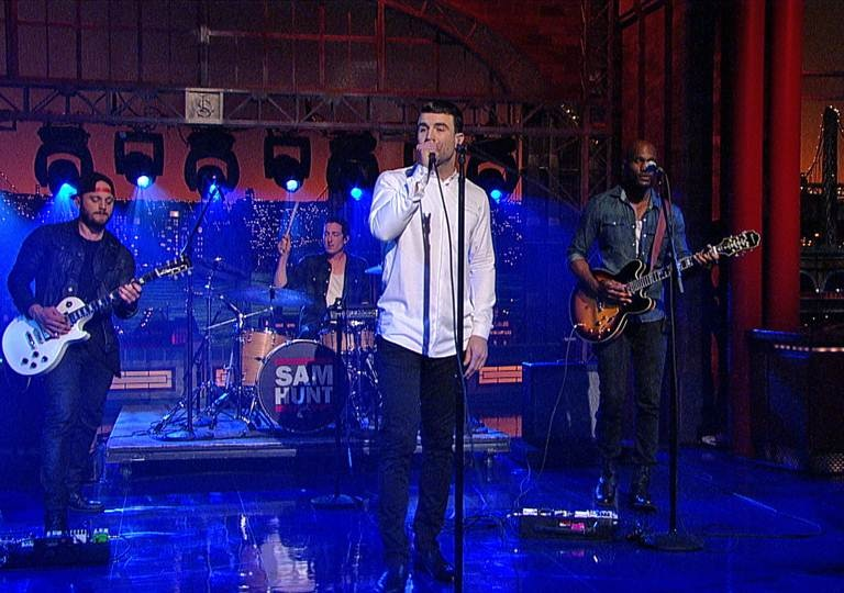"SAM HUNT PERFORMS ""TAKE YOUR TIME"" ON DAVID LETTERMAN"