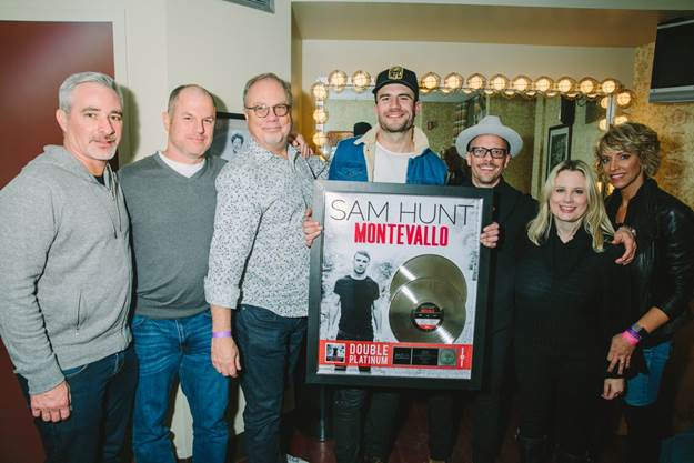 SAM HUNT SURPRISED WITH A DOUBLE PLATINUM PLAQUE FOR MONTEVALLO